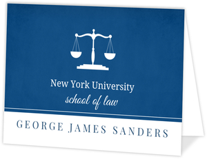 Law School Navy Blue Graduation Announcement