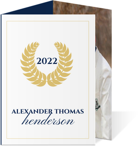 Classic Gold Seal Graduation Announcement Card
