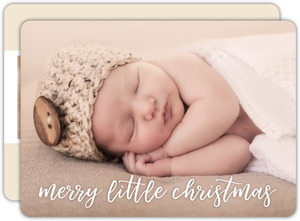 Merry Baby Photo Holiday Birth Announcement