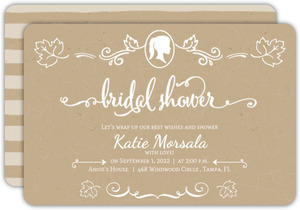 Kaft White Decor Bridal Shower Invitation