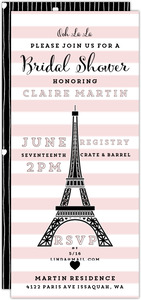 Parisian Love Bridal Shower Invitation