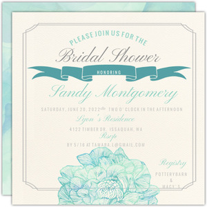 Traditional Elegance Bridal Shower Invitation