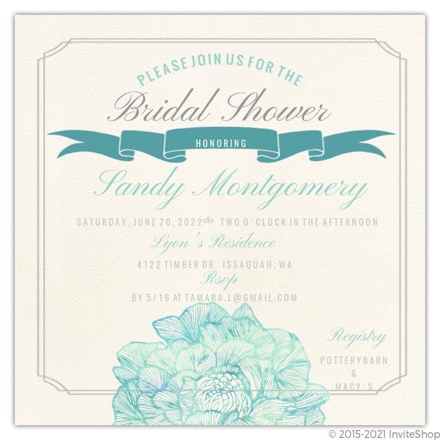 Traditional elegance bridal shower invitation bridal shower traditional elegance bridal shower invitation filmwisefo