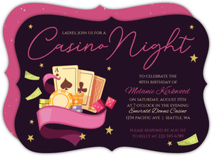 Night On The Town Casino Party Invitation
