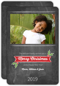 Chalkboard Art Christmas Photo Cards