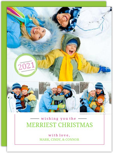 Merry Christmas Photo Collage Greeting Card