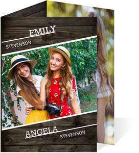 Rustic Brown Graduation Announcement