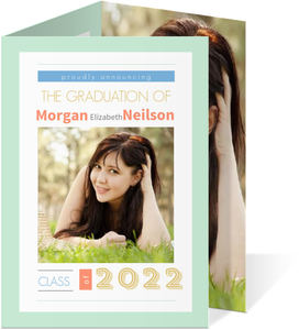Mint Block Typography Graduation Announcement