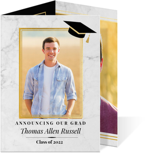 Simple Photo Collage Graduation Announcement