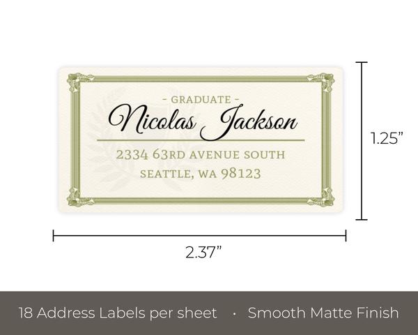 fun diploma graduation party custom address label address labels