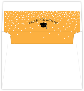 Whimsical Confetti Graduation Envelope Liner