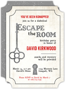 Escape the Room Birthday Invitation