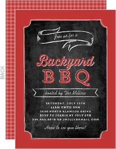 Red and White Grill Tools BBQ Invite