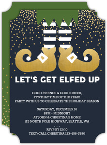Elfed Up Party Holiday Party Invitation