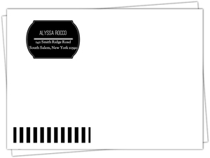 Black and White Stripe Custom Envelope