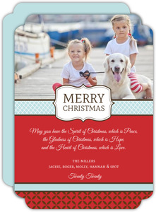 Fancy Ribbon Christmas Photo Card