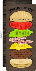 Burger Tower Family BBQ Invitation