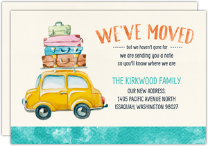 Summer Watercolor Moving Announcement Postcard