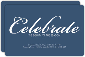 Simple Blue Holiday Party Invitation