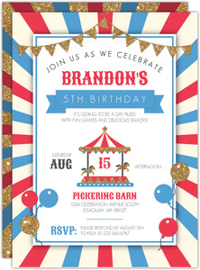 Festive Carnival Kids Birthday Invitation