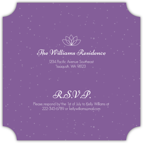 Purple Spa Girls Birthday Party Invitation Teen Birthday