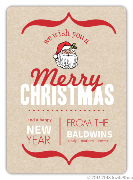modern rustic christmas card - Rustic Christmas Cards