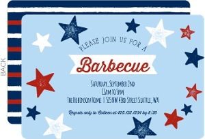 Chalk Stars and Stripes Summer Party Invitation