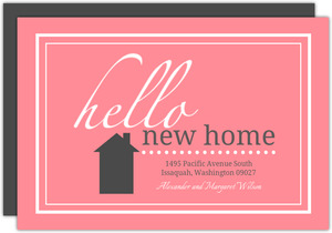 Pink Framed New Home Moving Announcement