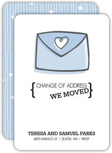 Change of Address Envelope Moving Announcement