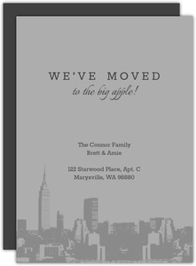 Moved to the City Moving Announcement