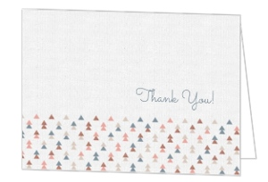Delicate Geometric Pattern Graduation Thank You Card