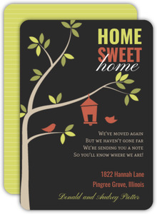 Cute Birdhouse Moving Announcement Card