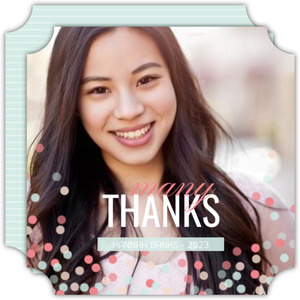 Sweet Confetti Graduation Thank You Card