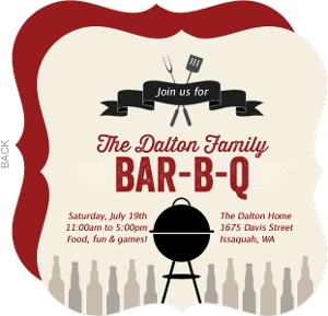 Grill & Bottles BBQ Invitation
