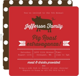 Pig Roast Extravaganza BBQ Invitation