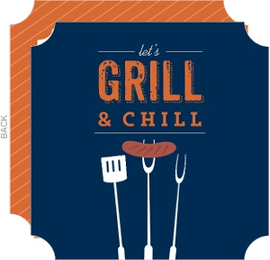 Lets Grill & Chill BBQ Invitation