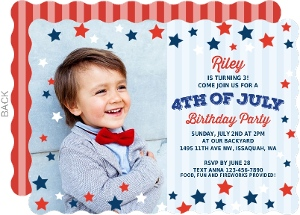 Cheerful Fireworks 4th of July Invitation