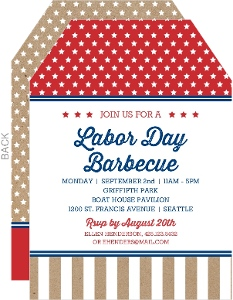 Stars and Stripes Labor Day Invitations
