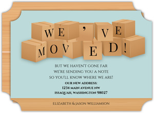 Modern Moving Boxes Moving Announcement