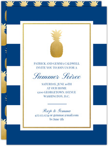 Classic Pineapple Stripes Party Invitation