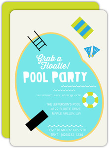Cool Pool Party Invitation