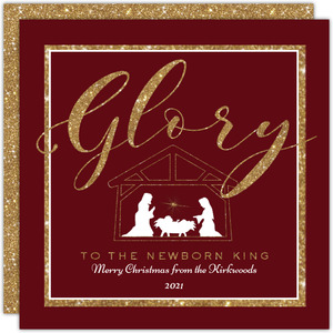 Glory to the King Christmas Card