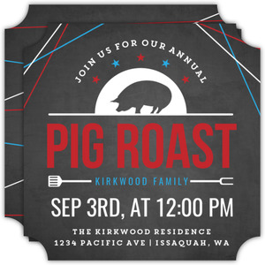 Family Annual Pig Roast Bbq Invitation