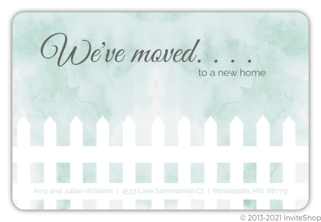we ve moved picket fence moving announcement moving announcements