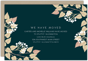 Elegant Foliage Frame Moving Announcement