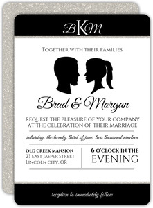 Timeless Cameo Wedding Invitation