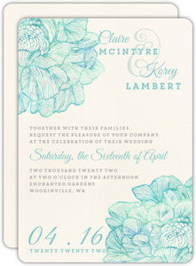 Modern Watercolor Elegance Wedding Invitation