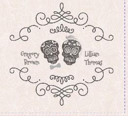 Pastel Pink Lace Booklet Halloween Wedding Invitation