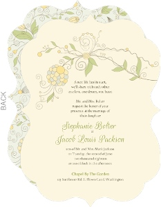 Yellow Summer Floral Wedding Invitation