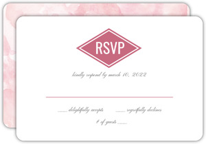 Floral Pink Watercolor Wedding Response Card